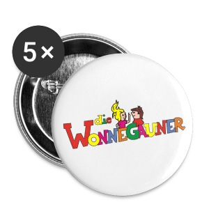 Buttons 5er Pack Wonnegauner - Buttons groß 56 mm