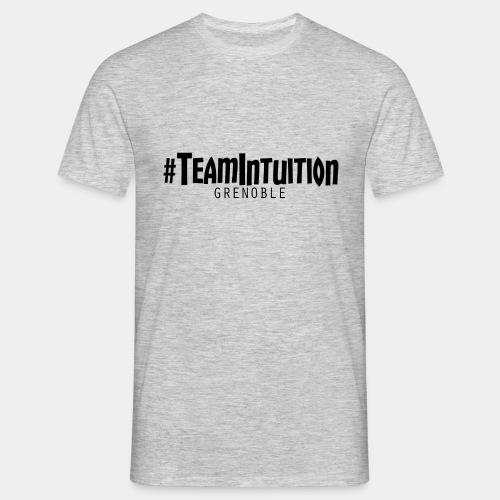Tee-Shirt #TeamIntuition Blanc Classique (GRIS) - T-shirt Homme
