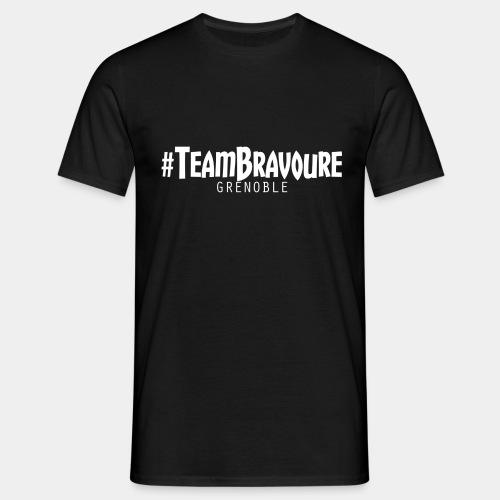 Tee-Shirt #TeamBravoure Blanc Classique (NOIR) - T-shirt Homme