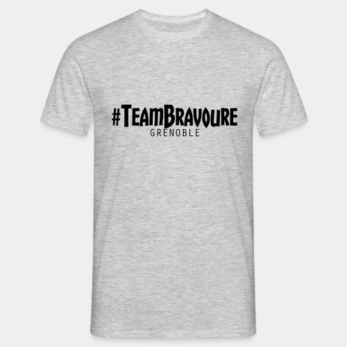 Tee-Shirt #TeamBravoure Noir Classique (GRIS) - T-shirt Homme
