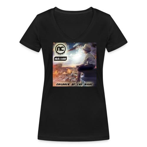 nick cold - cover - woman - Frauen Bio-T-Shirt mit V-Ausschnitt von Stanley & Stella