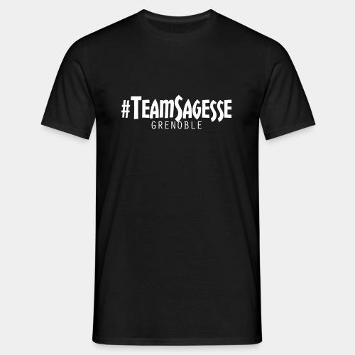 ee-Shirt #TeamSagesse Blanc Classique (NOIR) - T-shirt Homme