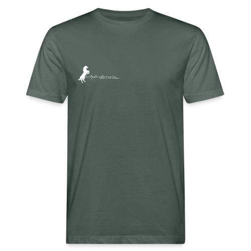 Ru Font small, Bio Menshirt [Print: Digital White) - Männer Bio-T-Shirt