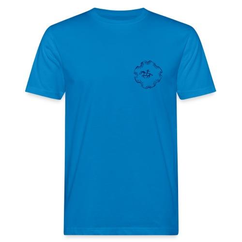 Front: Indian Rider, Back:  MPS Reiter schlicht, Bio Menshirt [Print:Navy) - Männer Bio-T-Shirt