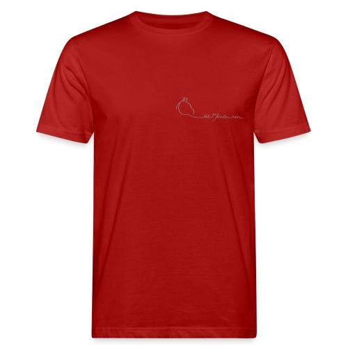 LOGO Schriftzug Bio Menshirt [Print:Digital  Silver Grey) - Männer Bio-T-Shirt