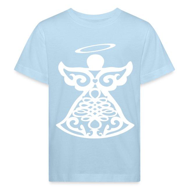 Tee shirt Bio Enfant avec ange gardien stylisé
