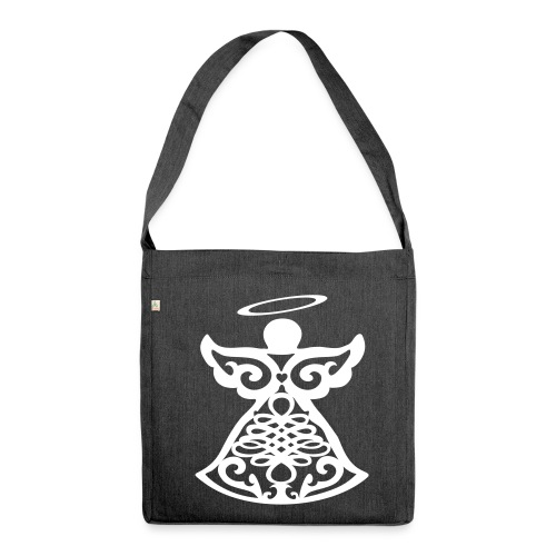 Sac bandoulière 100 % recyclé avec ange gardien stylisé - Shoulder Bag made from recycled material