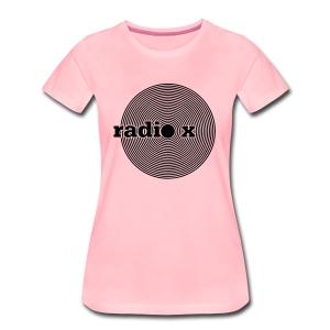 DISC schwarz - samtig  - Frauen Premium T-Shirt