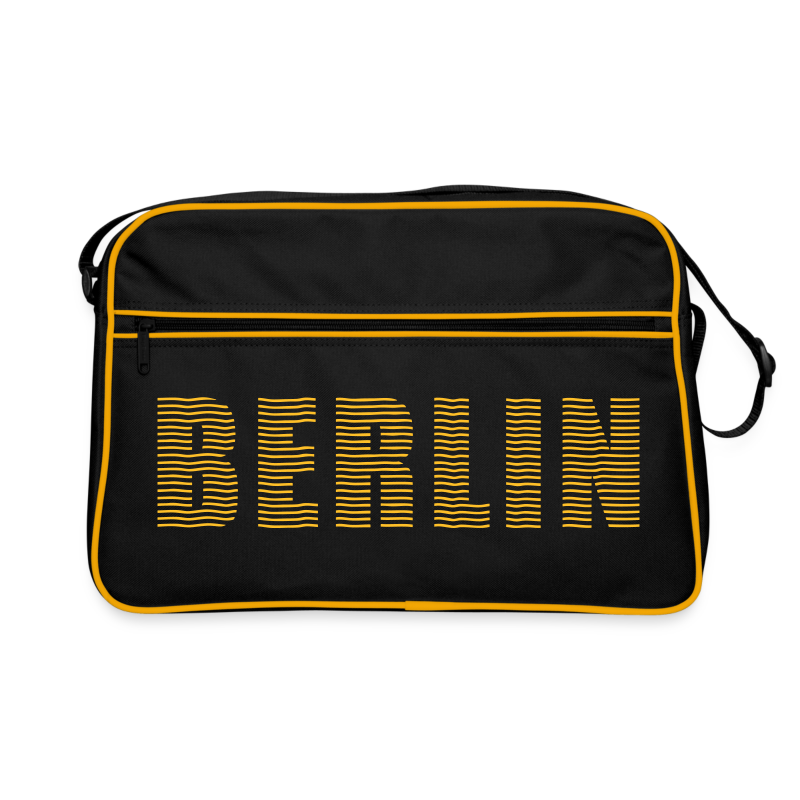 BERLIN Linienschrift - Retro Tasche