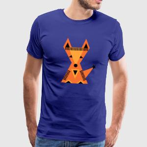 Little red fox, Kleine rode vos, bos, driehoek T-shirts - Mannen Premium T-shirt