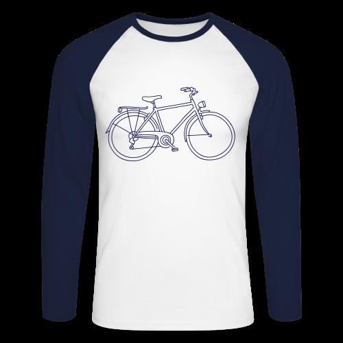 Fahrrad - Männer Baseballshirt langarm