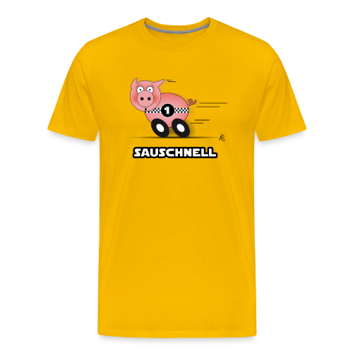 Sauschnell - Männer Premium T-Shirt