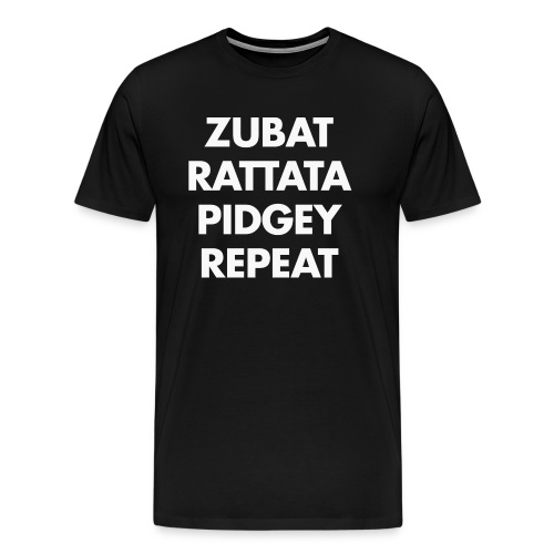 Zubat Repeat Black - T-shirt Premium Homme