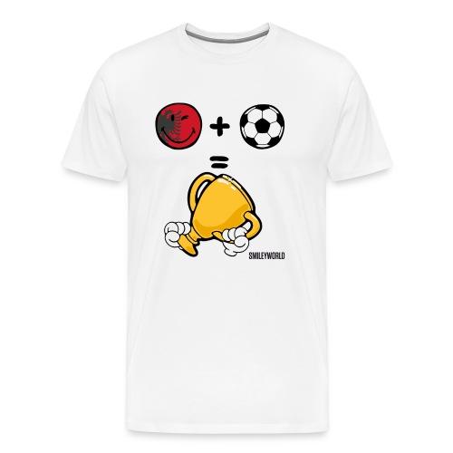 SmileyWorld Albania + Football = Winner - Männer Premium T-Shirt