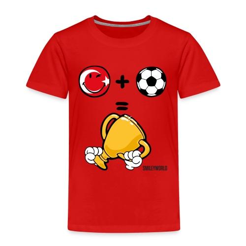 SmileyWorld Turkey + Football = Winner - Kinder Premium T-Shirt