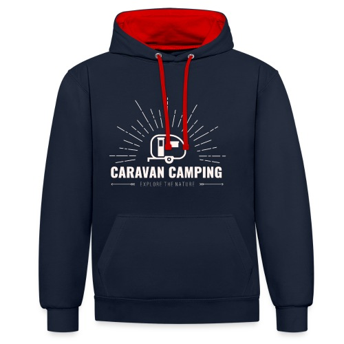 Felpa Caravan  - Felpa con cappuccio bicromatica