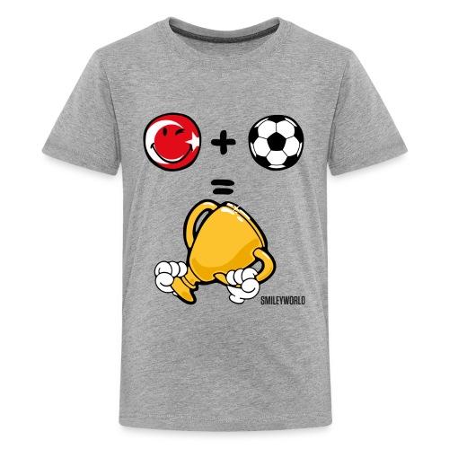 SmileyWorld Turkey + Football = Winner - Teenager Premium T-Shirt