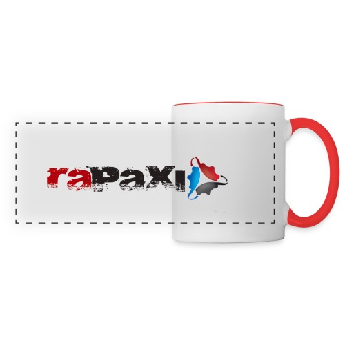 Becher mit Henkelfarbe und Rapaxlogo - Panoramatasse