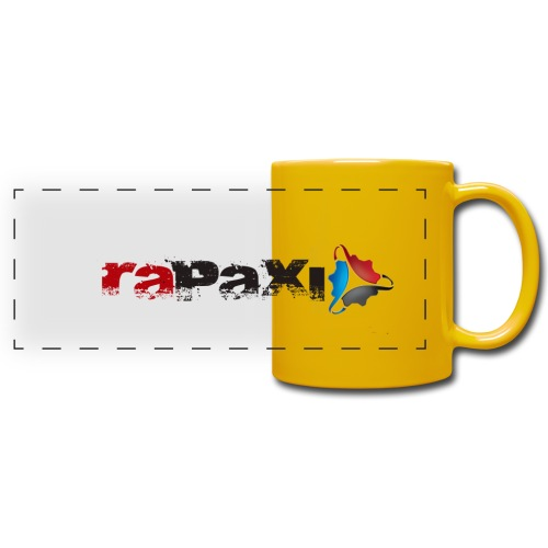 Gelber Fanbecher - Panoramatasse farbig