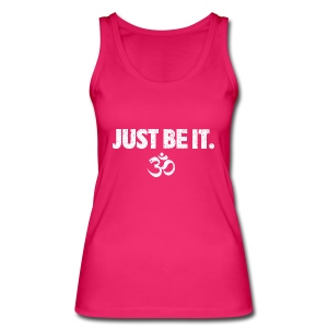JUST BE IT Women's Vest (white logo) - Women's Organic Tank Top