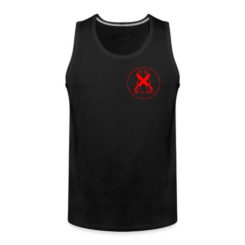 Men's Premium Tank Top - Training in the heat? Get that training with breeze in the Wing Chun Walsall vest top