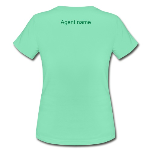 Women's T-shirt with agent name on the backside - Women's T-Shirt