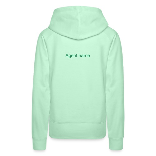 Women's hoodie with agent name on the backside - Women's Premium Hoodie