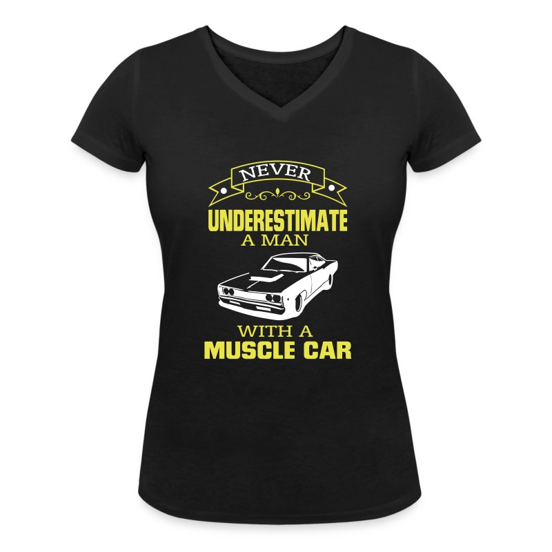 tee shirt jamais un homme sous estimer sa voiture de muscle spreadshirt. Black Bedroom Furniture Sets. Home Design Ideas