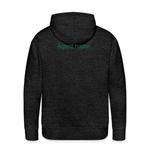 Men's hoodie with agent name on the backside - Men's Premium Hoodie