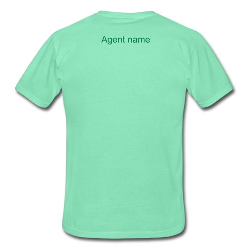 Men's T-shirt with agent name on the backside - Men's T-Shirt