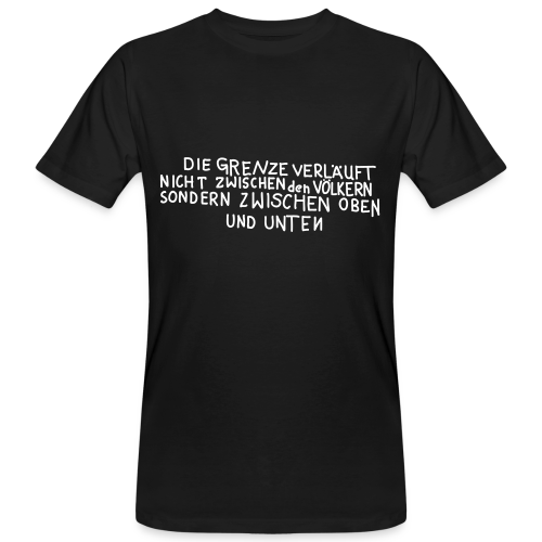 Graffiti: Oben und Unten - Männer Bio-T-Shirt