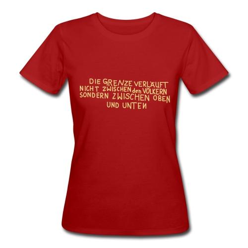 Graffiti: Oben und Unten - Frauen Bio-T-Shirt