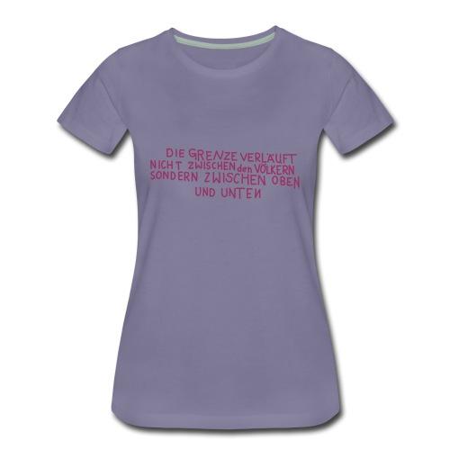Graffiti: Oben und Unten - Frauen Premium T-Shirt