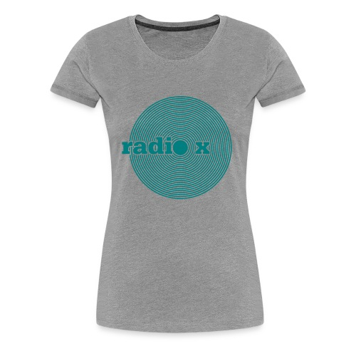 DISC emerald green - metallic - Frauen Premium T-Shirt