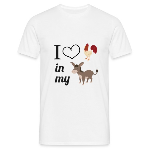 'I love ... in my ...' Men's Tee - Men's T-Shirt