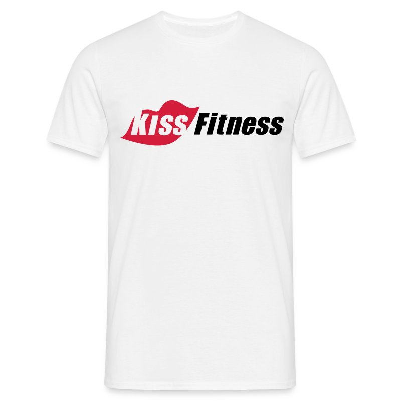 Kiss Fitness Men's White T-Shirt - Men's T-Shirt