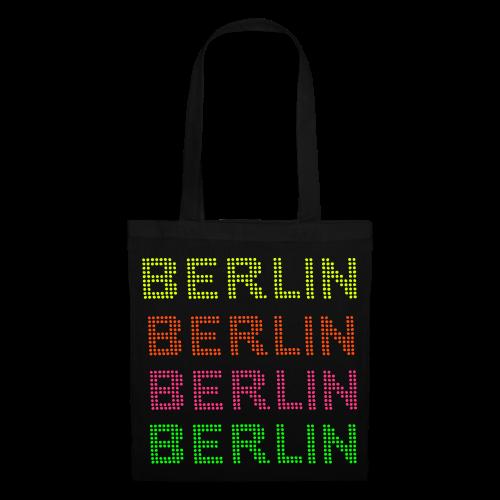 BERLIN Punktschrift in NEON - Stoffbeutel