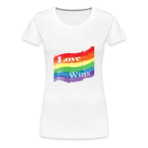 'Love Wins' Women's Tee - Women's Premium T-Shirt