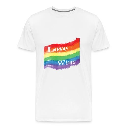 'Love Wins' Men's Tee - Men's Premium T-Shirt