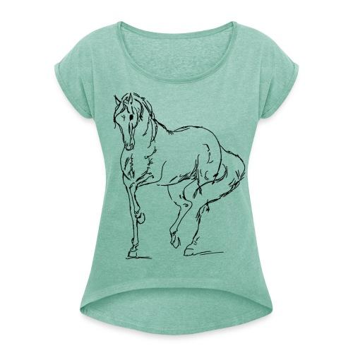 Piaffe Black Boyfriendshirt - Frauen T-Shirt mit gerollten Ärmeln