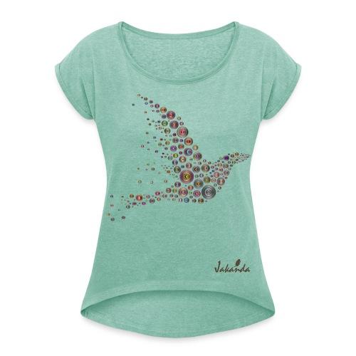 Birdy - Frauen T-Shirt mit gerollten Ärmeln