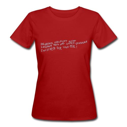 Graffiti: Zwischen Dir und Mir - Frauen Bio-T-Shirt