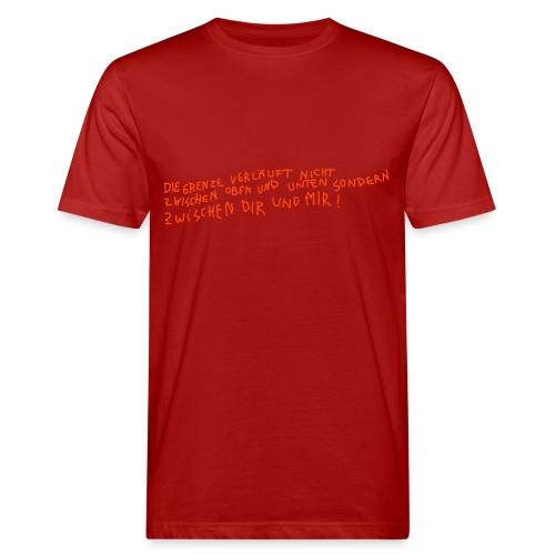 Graffiti: Zwischen Dir und Mir - Männer Bio-T-Shirt