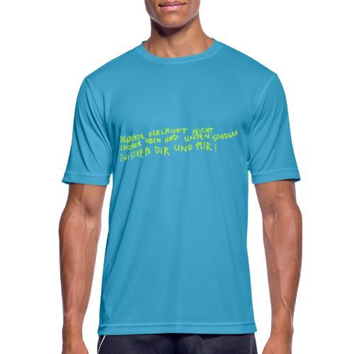 Graffiti: Zwischen Dir und Mir - Männer T-Shirt atmungsaktiv