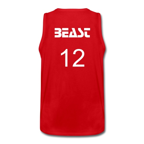 xHezitationz- BEAST jersey - Men's Premium Tank Top