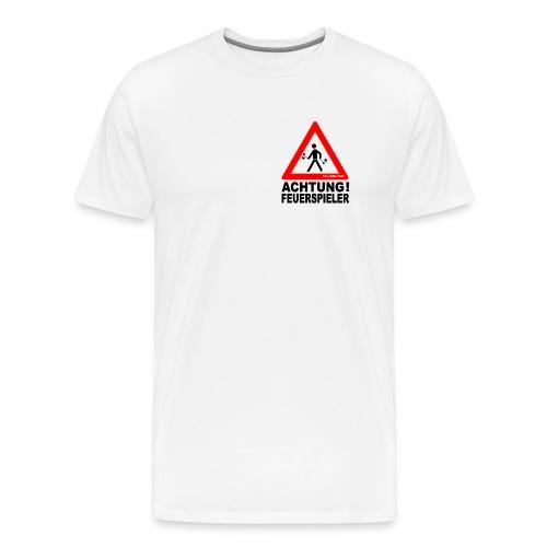 Achtung Feuerspieler - Männer Premium T-Shirt