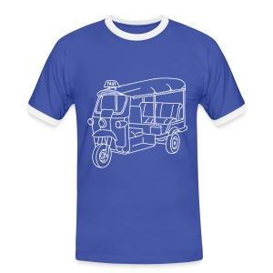Tuk-Tuk, Taxi aus Indien oder Thailand - Männer Kontrast-T-Shirt
