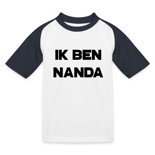 Ik ben Nanda zwart-wit T-shirt tienersmaat - Kinderen baseball T-shirt