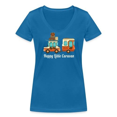 Happy Little Caravan - T-shirt ecologica da donna con scollo a V di Stanley & Stella