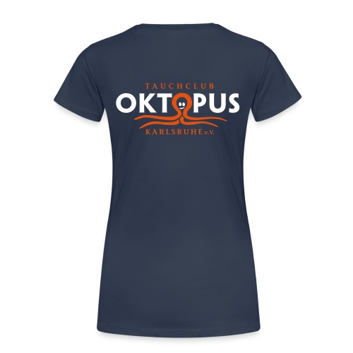 Damen-Okto-Shirt in navy - Frauen Premium T-Shirt